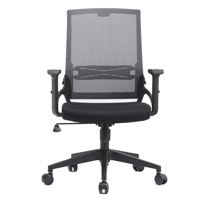 commercial black mesh office wooden study chair