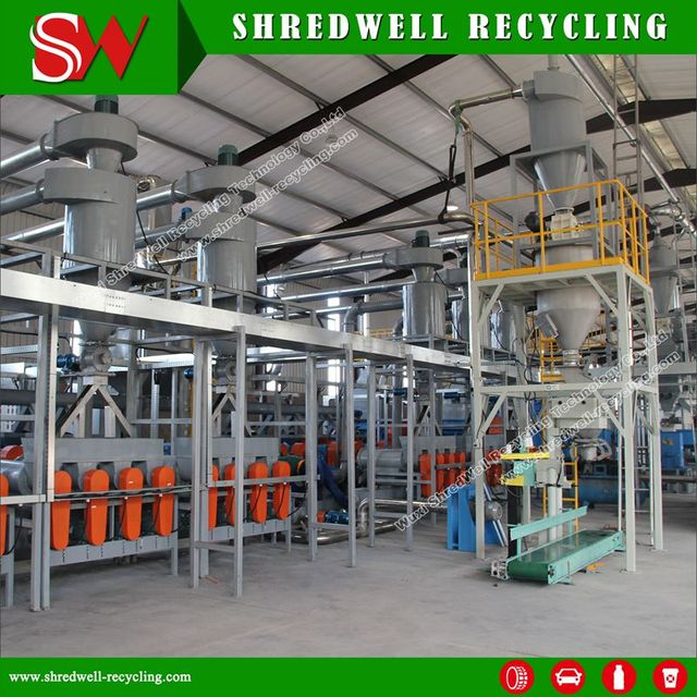Used Car Tyre Recycling Plant For Reclaimed Rubber With Siemens Motor