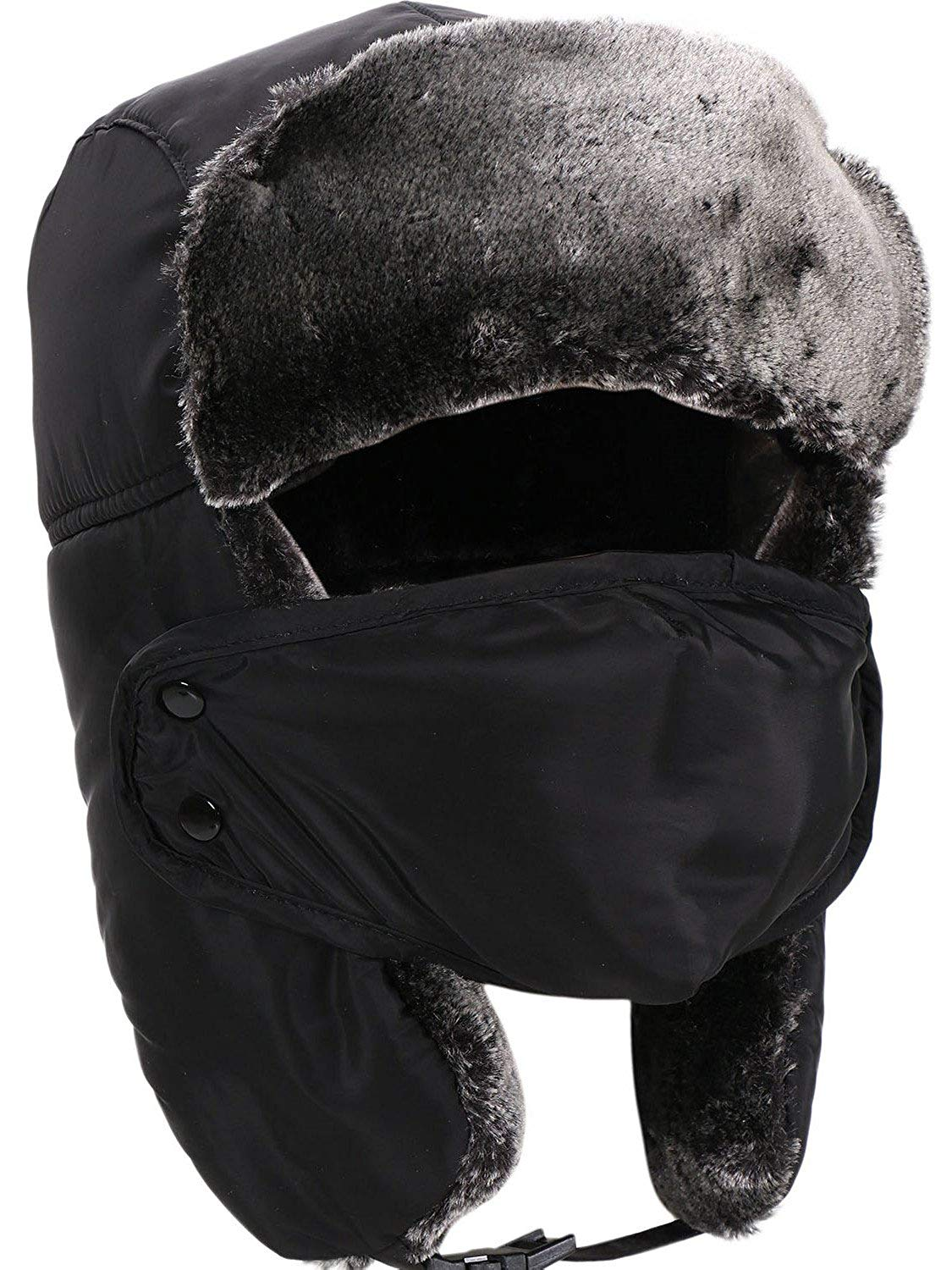 20301d63b83 Get Quotations · Livingston Winter Outdoors Faux Fur Waterproof Trooper Hat  w Mask
