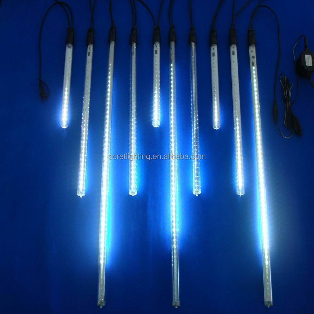 White Led Snow Fall Light/tree Shower Light/led Meteor Rainfall ...