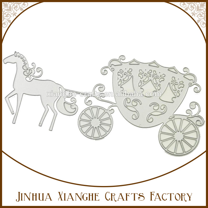 Best selling horse and carriage die cutting stencils metal paper cutting embossing dies