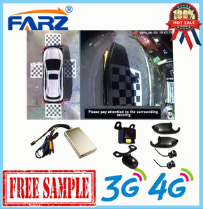 360 Degree Car Parking Cameras 4CH Channel Vehicle DVR System Support 4 HDD Camera Can Be With Bird View
