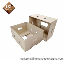 Banana Fruit Packing Cardboard Paper Carrying Box with Handle Buckle