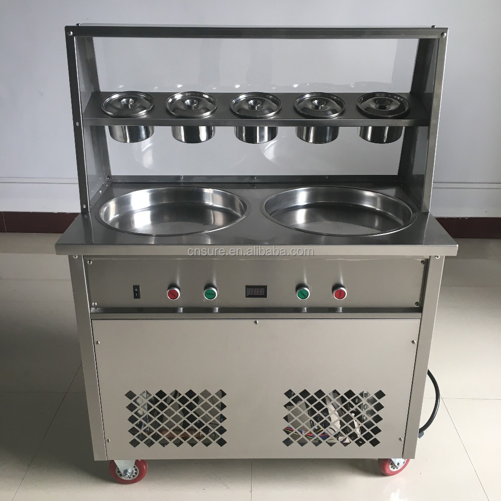 Thailand Fry Ice Cream Machine/Thailand Rolled Fried Ice Cream Machine