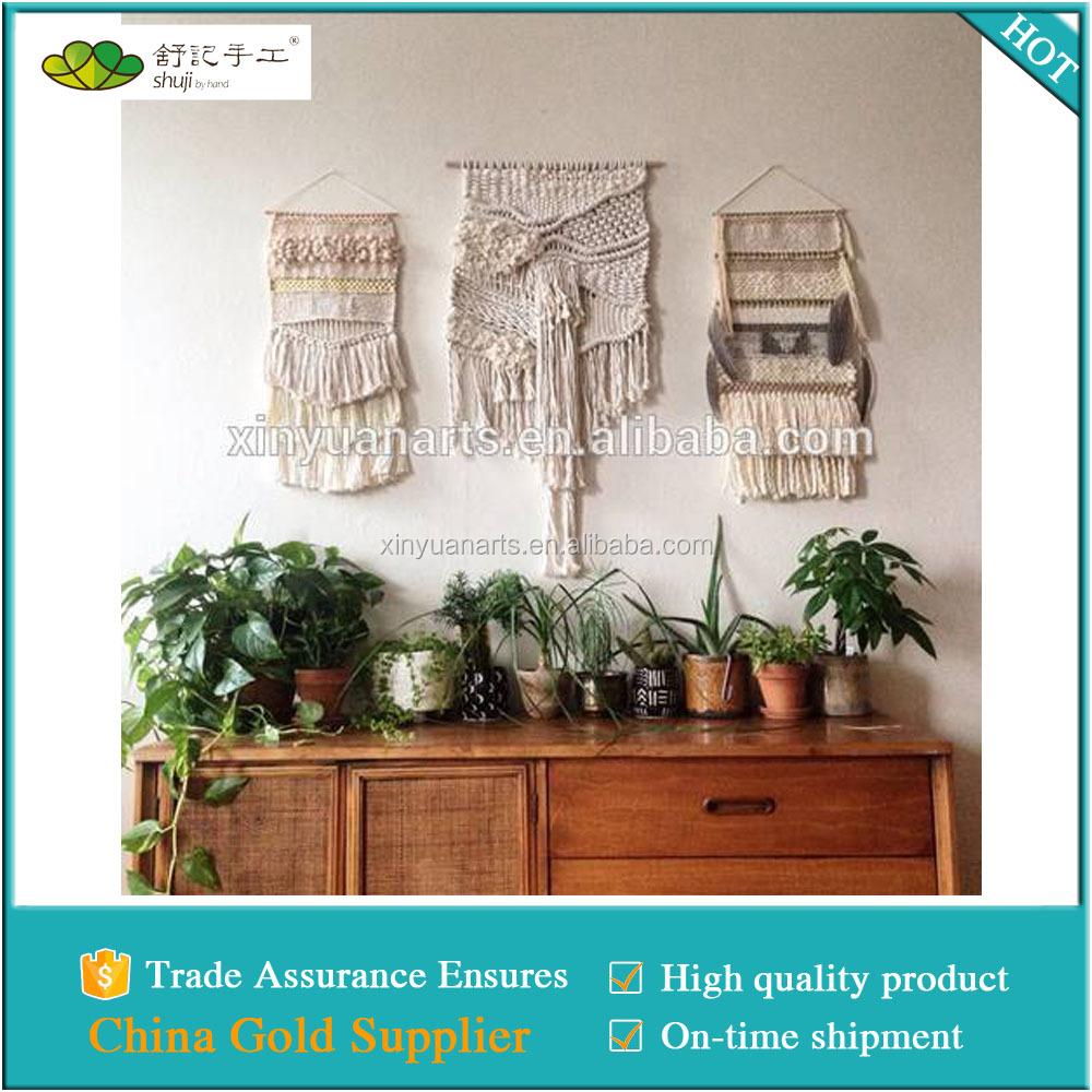 Macrame Wall Art With Tassel Handmade