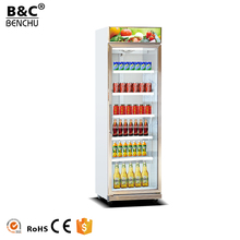 High Quality Supermarket Cold Drink Fridge / Single Glass Door Refrigerator for Sale