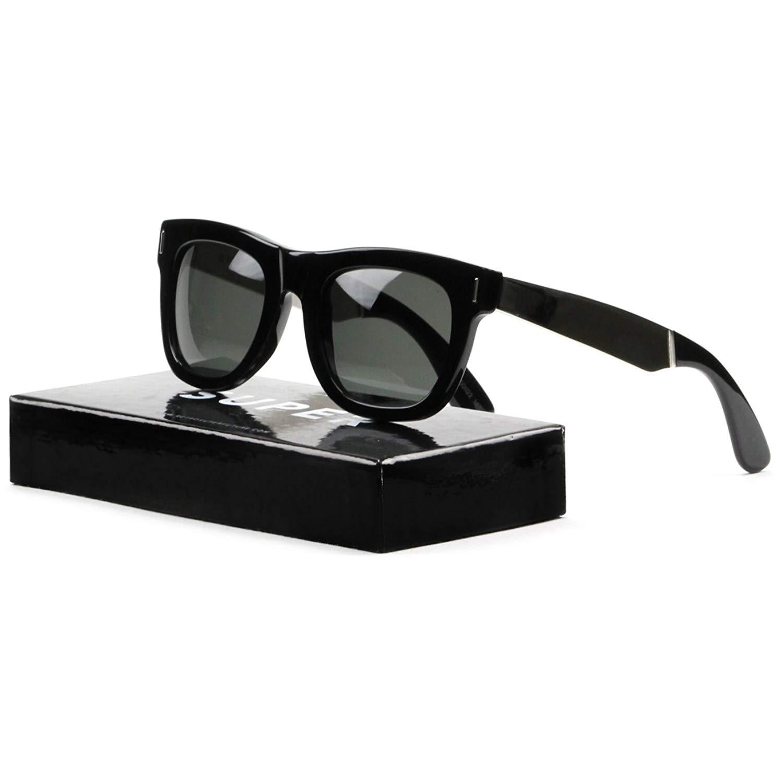 ea57975bef34 Super Ciccio 767 Sunglasses Silver Francis Black w/ Zeiss Lens  RETROSUPERFUTURE
