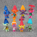 8Pcs lot 10 12cm Dreamworks Trolls Poppy Branch Bridget Prince Gristle DJ Suki Guy Diamond Creek