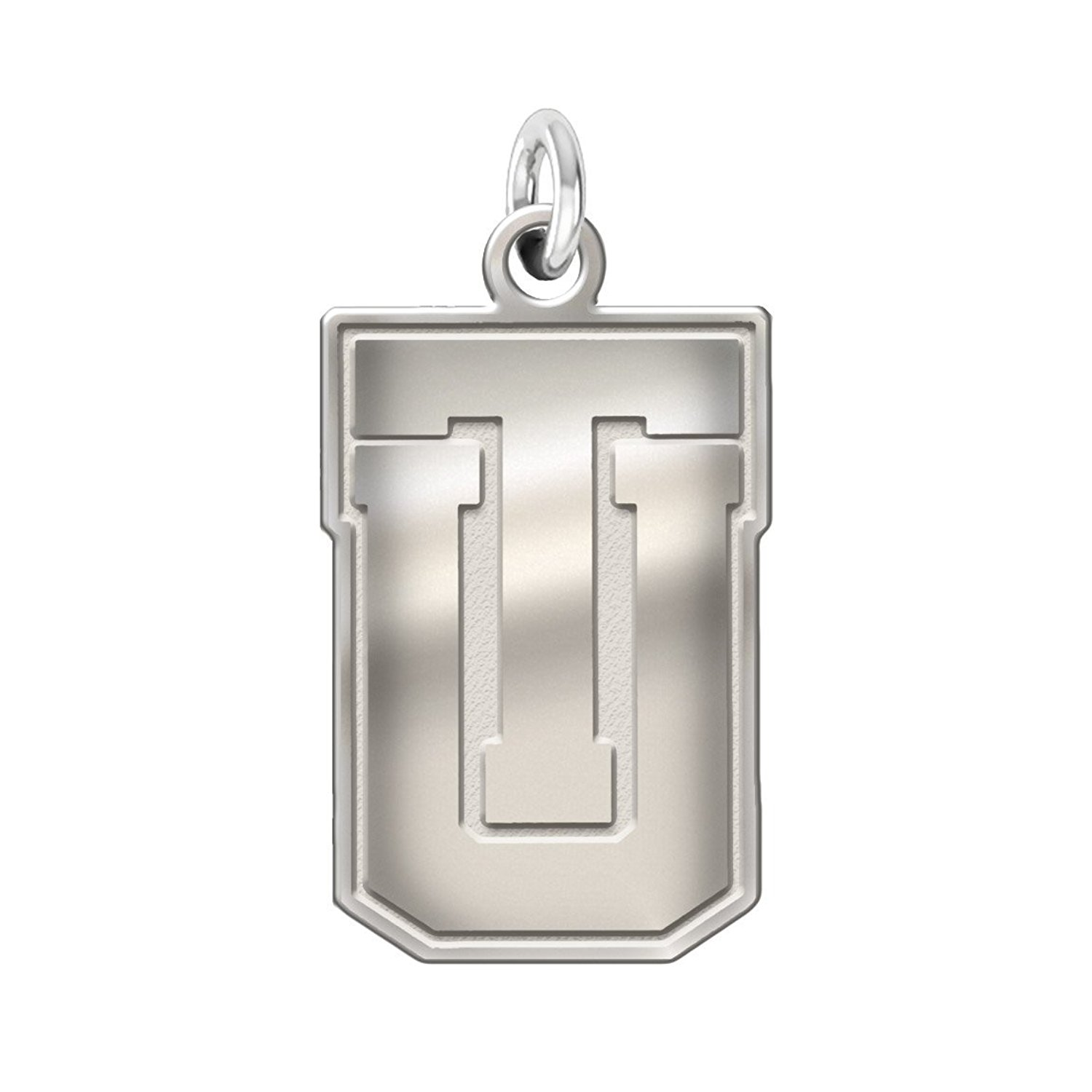 """Tulsa Golden Hurricane 1"""" Sterling Silver Cut Out Logo Natural Finish Charm"""