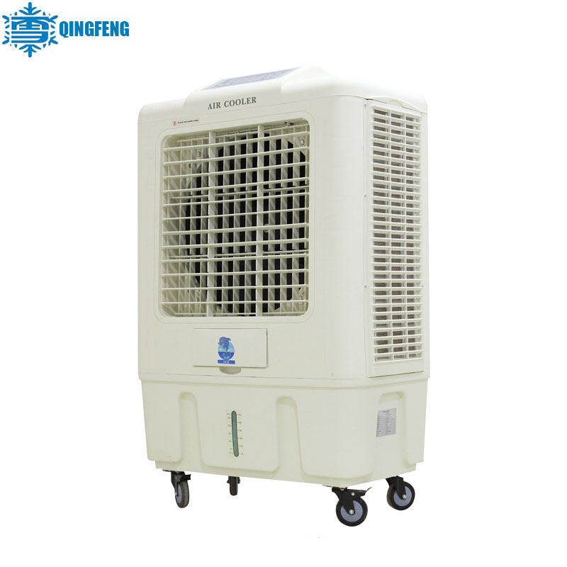Small 100% new pp material clima air conditioner with axial fan