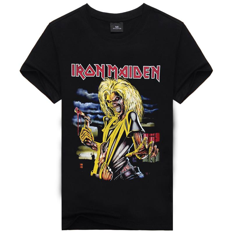 iron maiden t shirt music men rock band tshirts top quality popular gym graphic t shirt anime. Black Bedroom Furniture Sets. Home Design Ideas