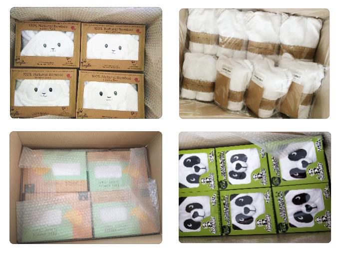 100% bamboe baby hooded handdoek Super Absorberende Hooded Badhanddoek met Leuke Lam Gezicht Ontwerp