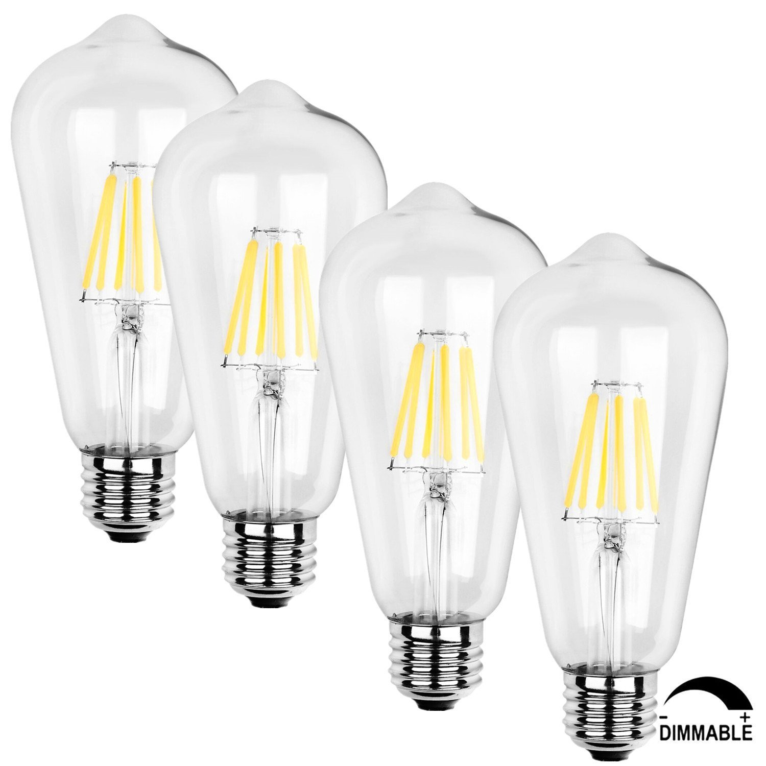 Get Quotations Soofoo E27 Led Vintage Filament Lighting Bulb Retro Edison Style 8w To Replace