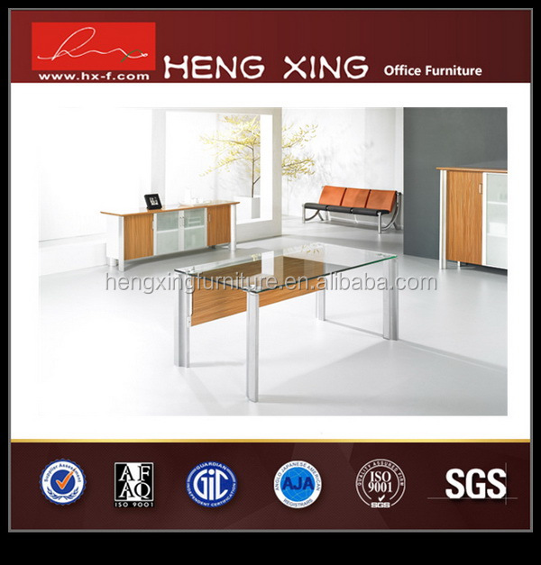 Wooden steel staff table office and chair new design