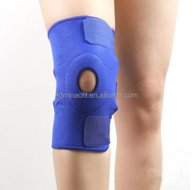 2018 new product cheap Neoprene and silicone pad Half-Opening Knee Brace Support