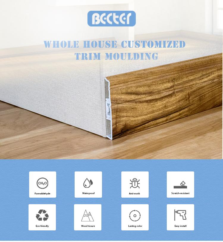 Waterproof Elegant Decorative Pvc Base Board Trim For Vinyl Floor - Buy  Base Board Trim,Floor Skirting Board Trim,Floor Skirting Board Trim Product  on