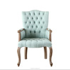 Elegant Design Tufted Fabric Upholstered Arm Chair w/ Nailhead Accents