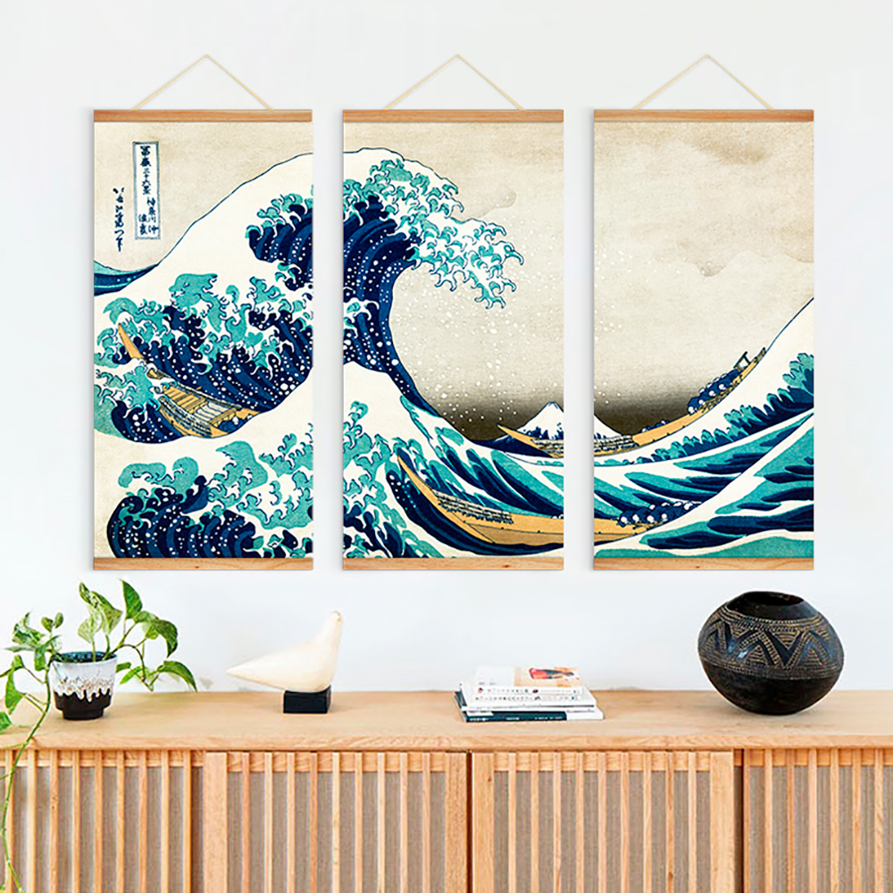 Famous japanese wall art printing painting for living room