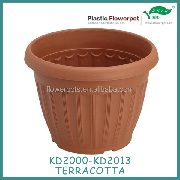 KD2000-KD2013 terracotta pots with saucer