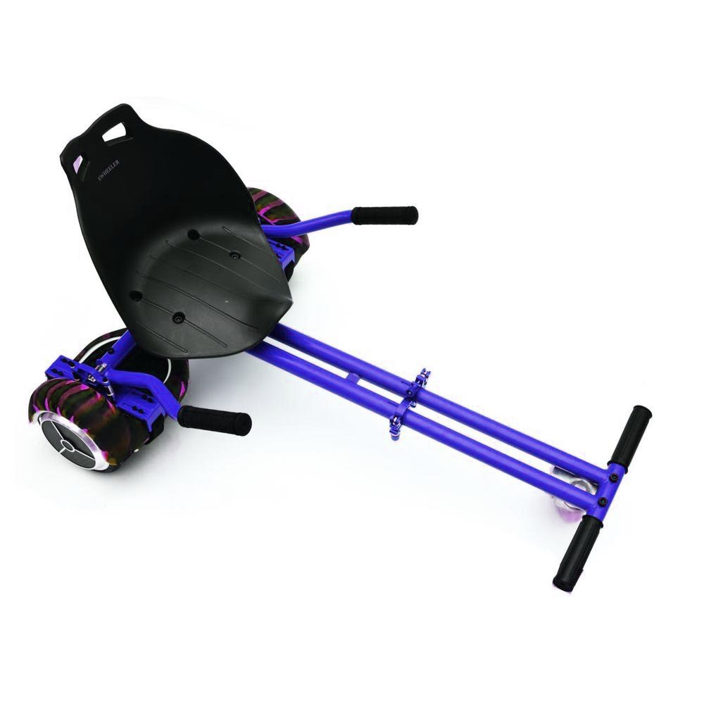 "Hoverkart for Hoverboard Attachment Accessory for 6.5"" 8"" 10""Two Wheel Self Balancing Scooter,Transform your hoverboard Into A GoKart, Hover Kart Attachment Blue"