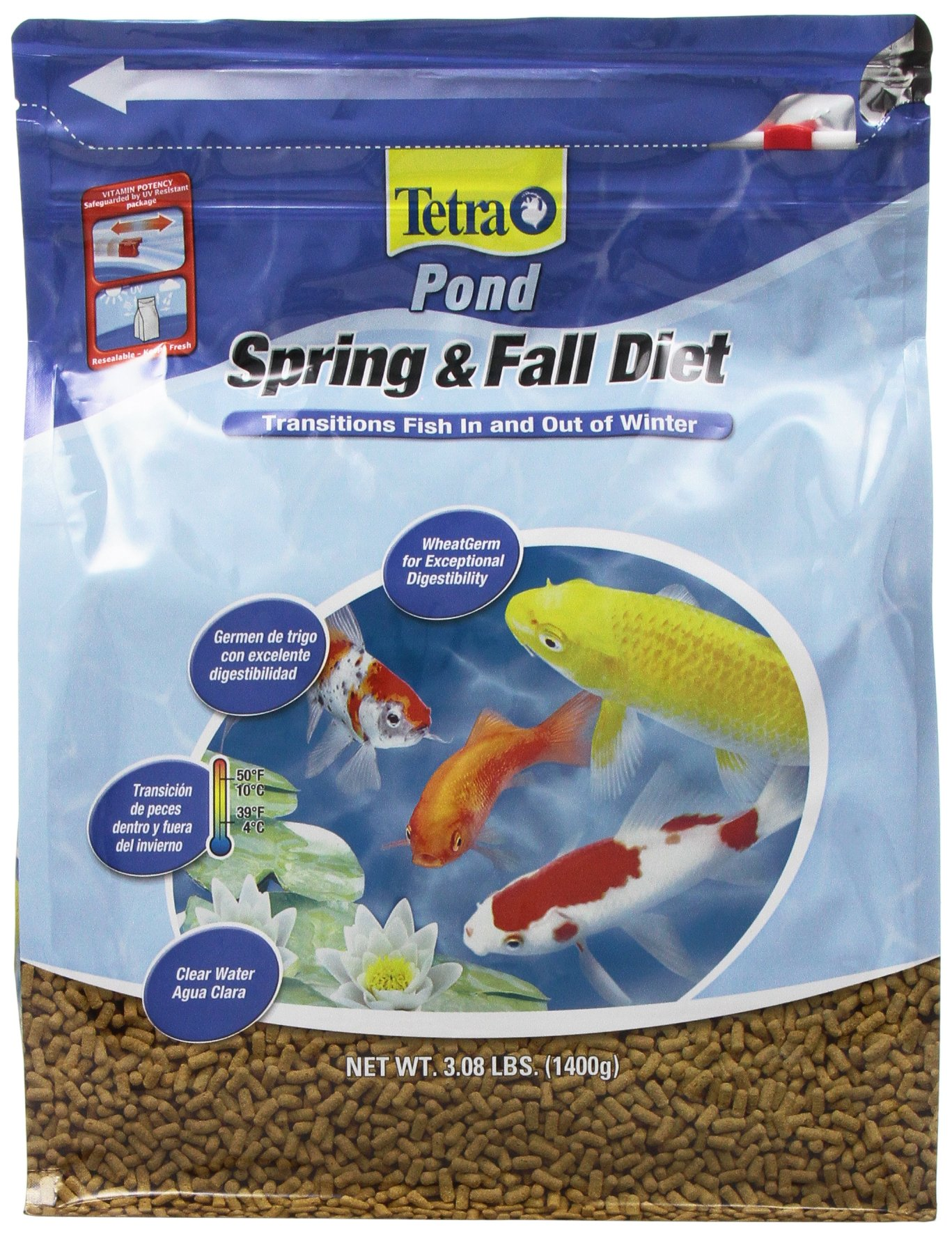 Tetra Pond Spring & Fall Diet Floating Pond Sticks Fish Food