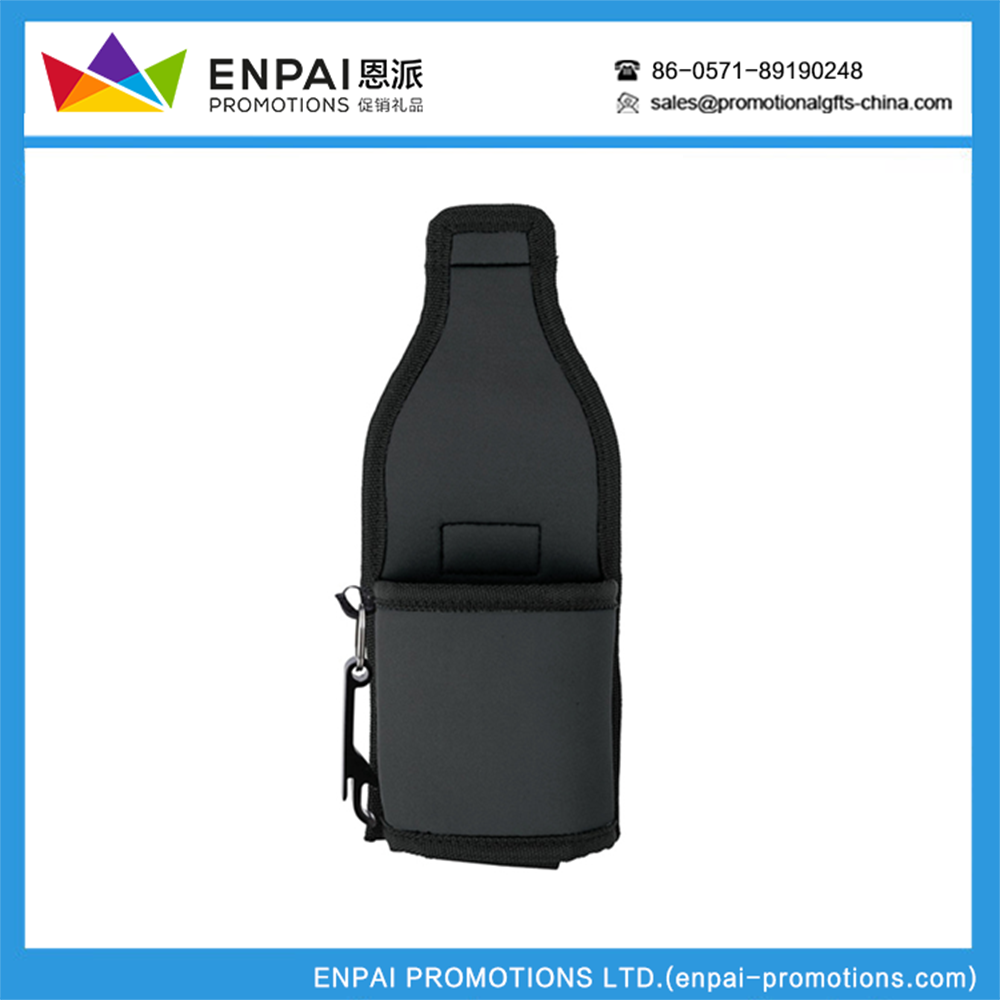 Advertising legerity with closure water bottle sleeve