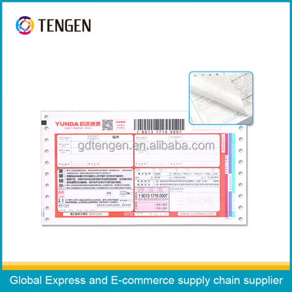Good quality self adhesive express waybill