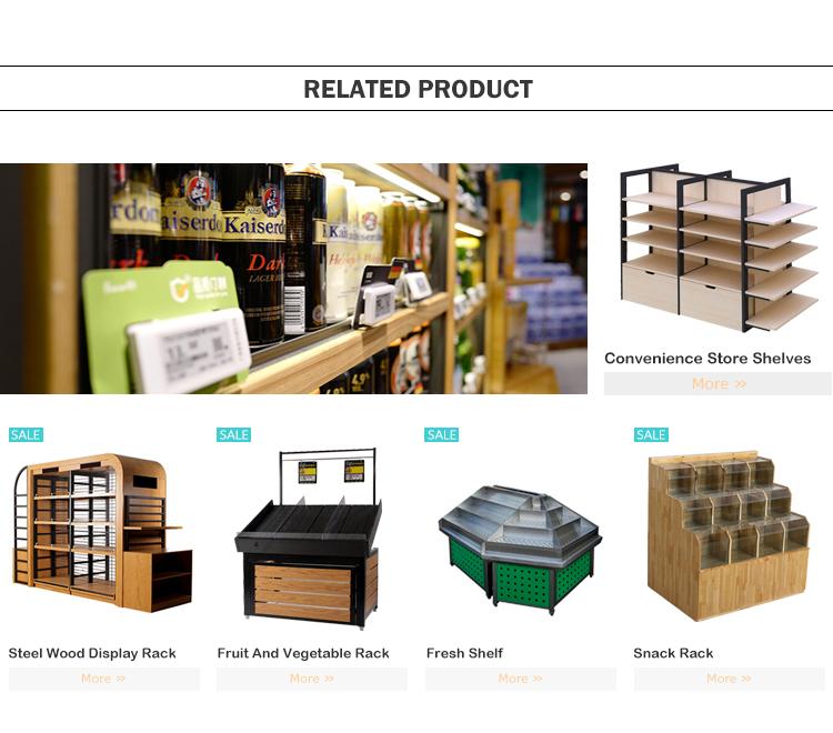 Fábrica al por mayor de encargo de la desmontable muebles Simple de acero inoxidable al por menor de estante de exhibición