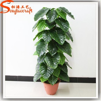 artificial big green leaves artificial plant for indoor & outdoor