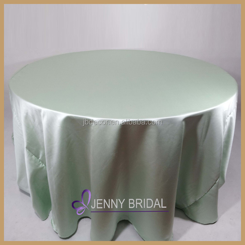 TC064C high quality sale mint green satin fabric wholesale table linens, round table linens
