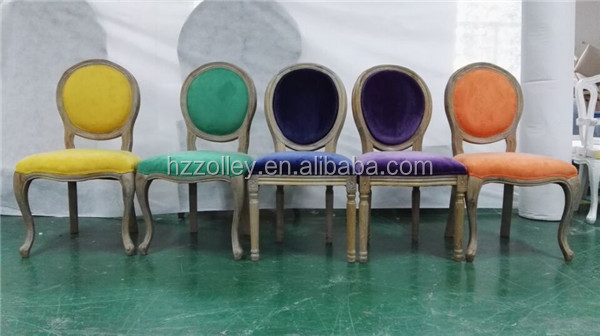 China supplier restaurant chair replica for wholesale upholstered antique spanish chair