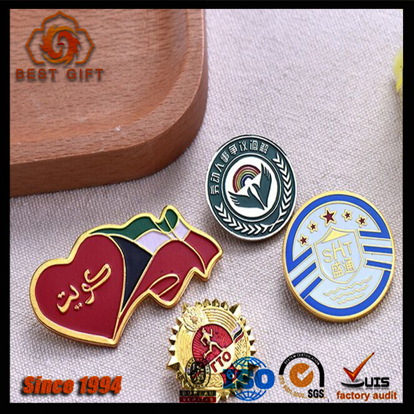 Gifts and crafts type mini matel badge holder