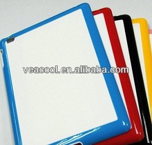 White Plate + Color Bumper Frame TPU case for Apple iPad 2 3 4 case