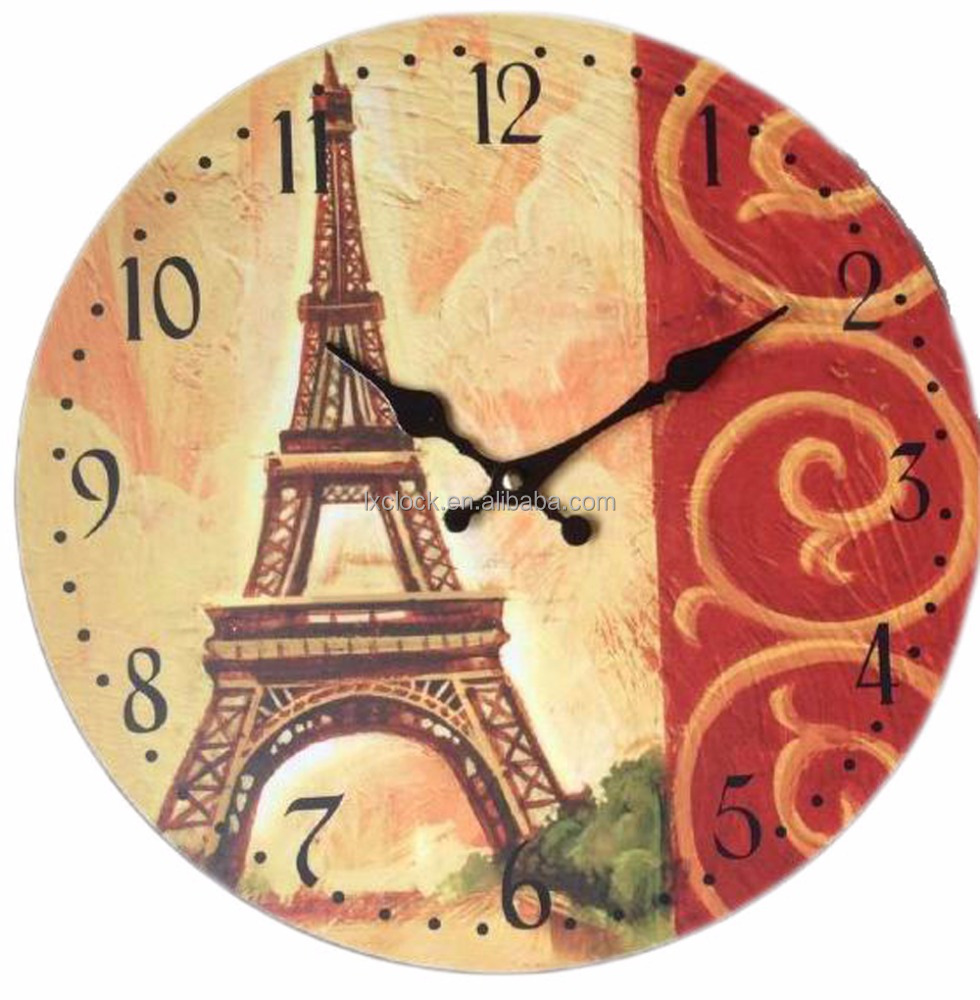 Eiffel Tower Wall Clock, Eiffel Tower Wall Clock Suppliers and ...