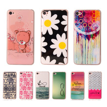 Fashion Cartoon Cute Soft Plastic Silicon Rubber Case For Lenovo S90 Printed Cartoon Flower Phone Cases Protective TPU Cover