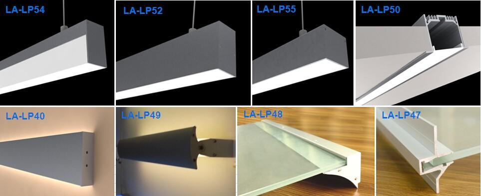 Aluminum Profile Led Strip Light 3 Channels Led Profile