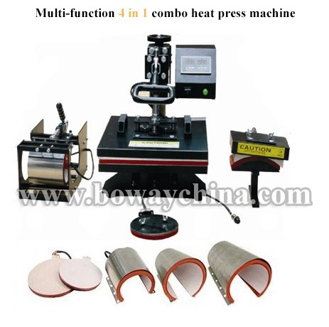 Mug/Plate/T-shirt/Hat 4 in 1 combo heat press coffee cup printing machine
