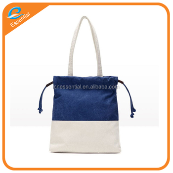 cb5246a91 High quality cotton canvas drawstring tote bag with customized design