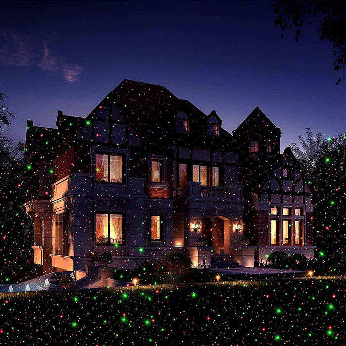 Premium Garden Laser Light with thousand of intensity stars move on your house in secs.