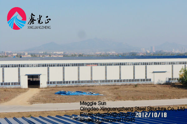 XGZ--Light steel structure warehouse fabrication kits prefab metal building steel structure office design