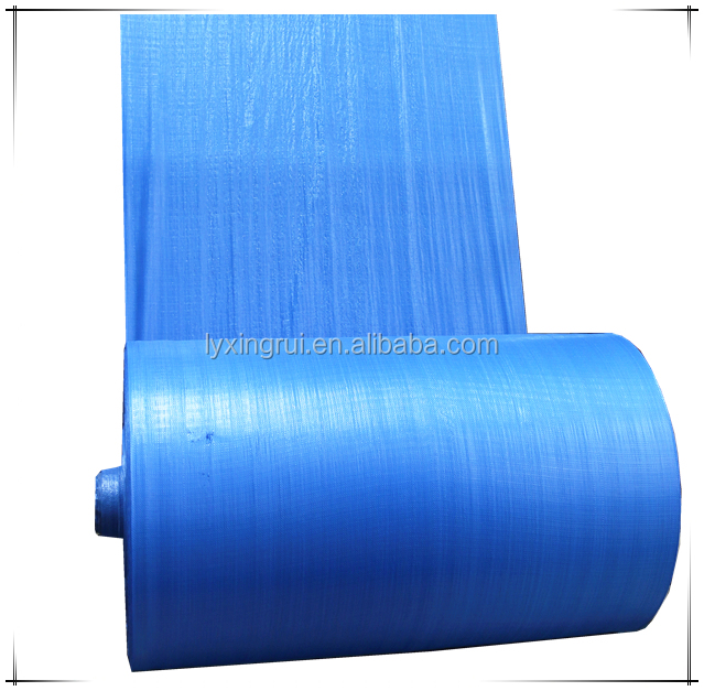 Excellent blue design polypropylene woven raffia fabric