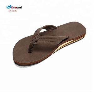 Healthy Sandals Genuine Leather Mens Flip Flops Arch Support Sandals