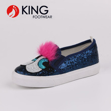 Colorful glitter slip-on loafers children shoes funny leisure girls shoes and sneakers