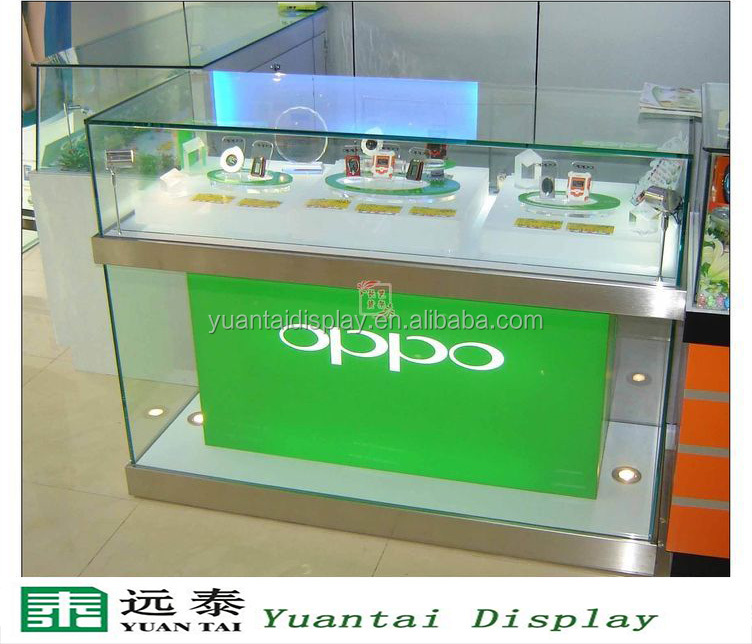 Modern Glass Cell Phone Display Cases Mobile Shop Counter ...