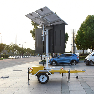 Solar VMS Trailer LED Outdoor Moving Display Variable Traffic Message Signs