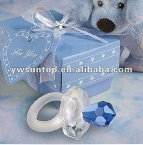 First choice crystal baby nipple for baby shower gifts 2 colour