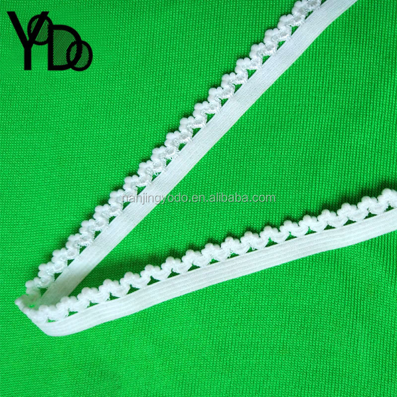 YQ-EL15 1cm white half round elastic band for cushion covers binding
