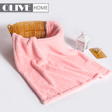Super Soft Pink Thick 200GSM POLY Sherpa Coral Double Fleece Baby Blanket