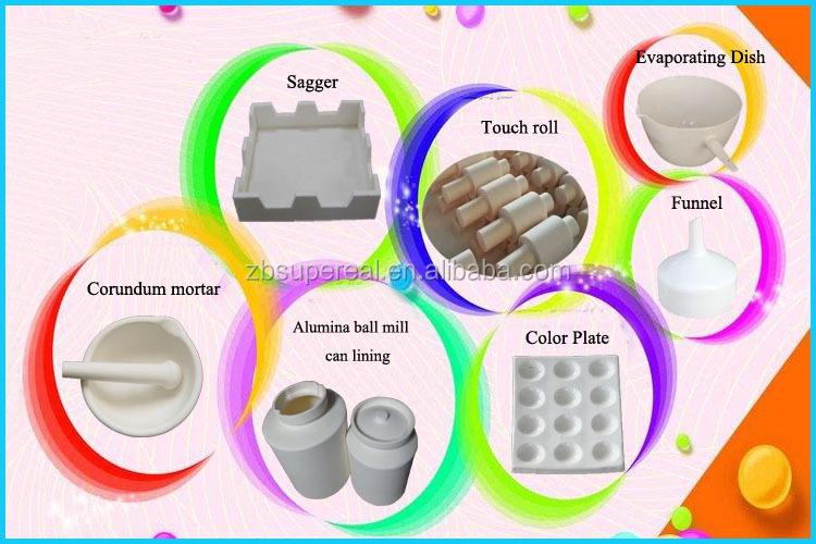Céramique Corindon Creuset Alumine Céramique Pour Laboratoire Expérience