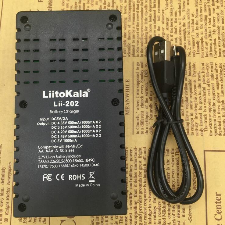 Liitokala Lii 202 18650 Battery Charger Lii202 For 1.2v3.7v